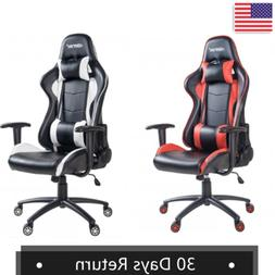 Gaming Chair Video Racing Ergonomic Massage Leather Office R