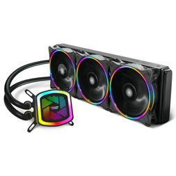 Gaming Computer Water Liquid CPU Cooler 360mm Kit W/ 3PCS 12