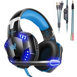 Mengshen Gaming Headset - with Mic, Volume Control and Cool