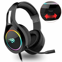Havit Gaming Headset for PS4 Xbox One PC, RGB Gaming Headpho