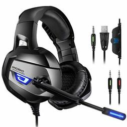 ONIKUMA Pro Stereo Gaming Headset for PS4, Xbox One, PC 【2
