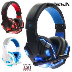 Gaming Headset Stereo Headphone 3.5mm Wired + Mic For PS4 PS