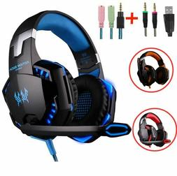 Gaming Headsets Big Headphones With Light Mic Stereo Earphon