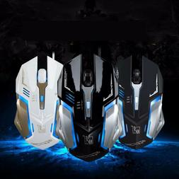 Gaming Mouse 4 Button USB Wired LED Breathing Fire Button 16