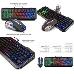 Gaming Mouse And Keyboard Combo Wired Backlit Xbox Ps4 Gamin