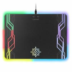 ENHANCE LED Gaming Mouse Pad Hard Large Surface - 7 RGB Ligh