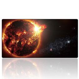 Cmhoo Large Gaming Mouse Pad Soft Rubber Bottom Keyboard Pad