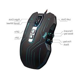 Prunend Gaming Mouse Programmable Wired LED Optical 9 Button