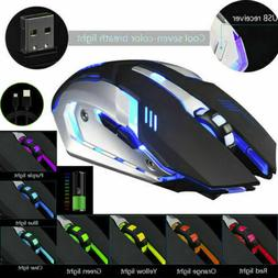 Gaming Mouse Rechargeable X7 Wireless Silent LED Backlit USB