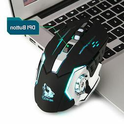 Gaming Mouse Rechargeable X8 Wireless Silent LED Backlit Opt