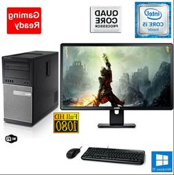Gaming PC Desktop Computer DELL i5 8GB 2TB Win10 WIFI +Keybo