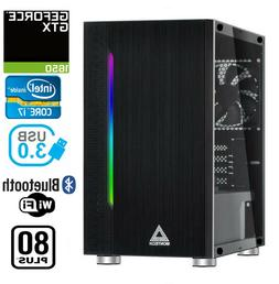 Gaming PC Desktop Computer RGB Intel i7 GTX 1650, 16GB RAM,