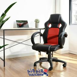 Gaming Racing Leather Office Chair Swivel Ergonomic Computer