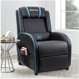 Homall Gaming Recliner Chair with PU Leather, Black/White/Pu