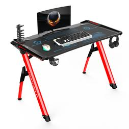 Kinsal Gaming Style Computer Office Desk with LED Lights and