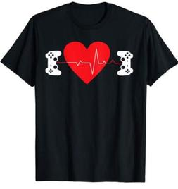 Gaming Valentine Gamer Couple Heart Gift T-Shirts Tee size M
