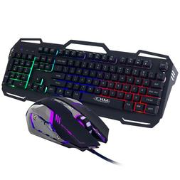 GK806 Wire Gaming Keyboard and Mouse Combo Backlit 104Key wi