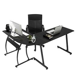 GreenForest L-Shape Corner Computer Office Desk PC Laptop Ta