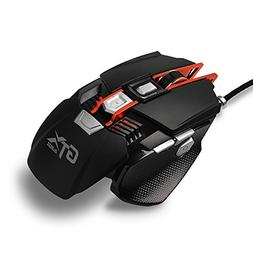 Ajazz GTX Wired Gaming Mouse, Adjustable Wrist Support and C