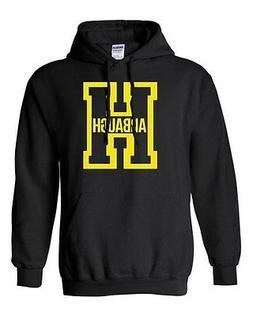 Harbaugh Big Letter H Football Michigan Sports Game Novelty