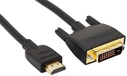 AmazonBasics HL-007346 DVI to HDMI Adapter Cable - 3 Feet