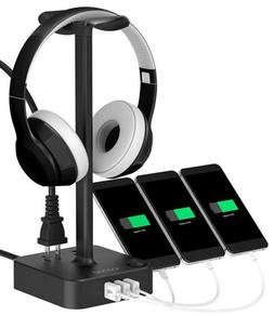 COZOO Headphone Stand with USB Charger  Desktop Gaming Heads