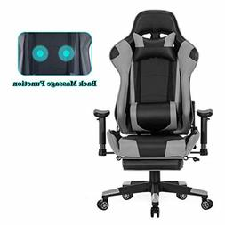 HEALGEN Back Massage Gaming Chair with Footrest,PC Computer