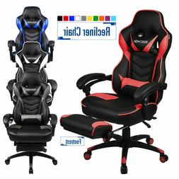 High Back Ergonomic Swivel Gaming Chair Racing Style Adjusta