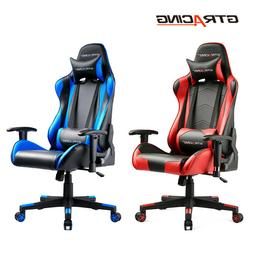 GTRacing Office PU Leather High Back Recliner Swivel Gaming Chair