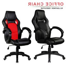 High Back Racing Car Style Bucket Seat Office Computer Desk