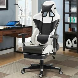 Home Office Ergonomic High Back Racing Gaming Chair with Lum