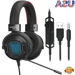 ONIKUMA K3 Stereo Gaming Noise-cancelling Wired Mic Headset