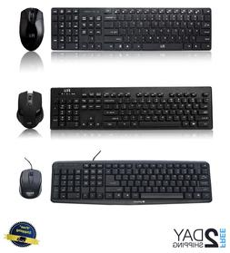 Keyboard and Mouse Wireless USB Bluetooth PC Gaming Desktop