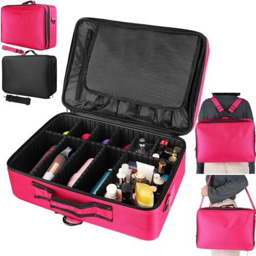 16 in Large Makeup Bags Professional Cosmetic Case Portable