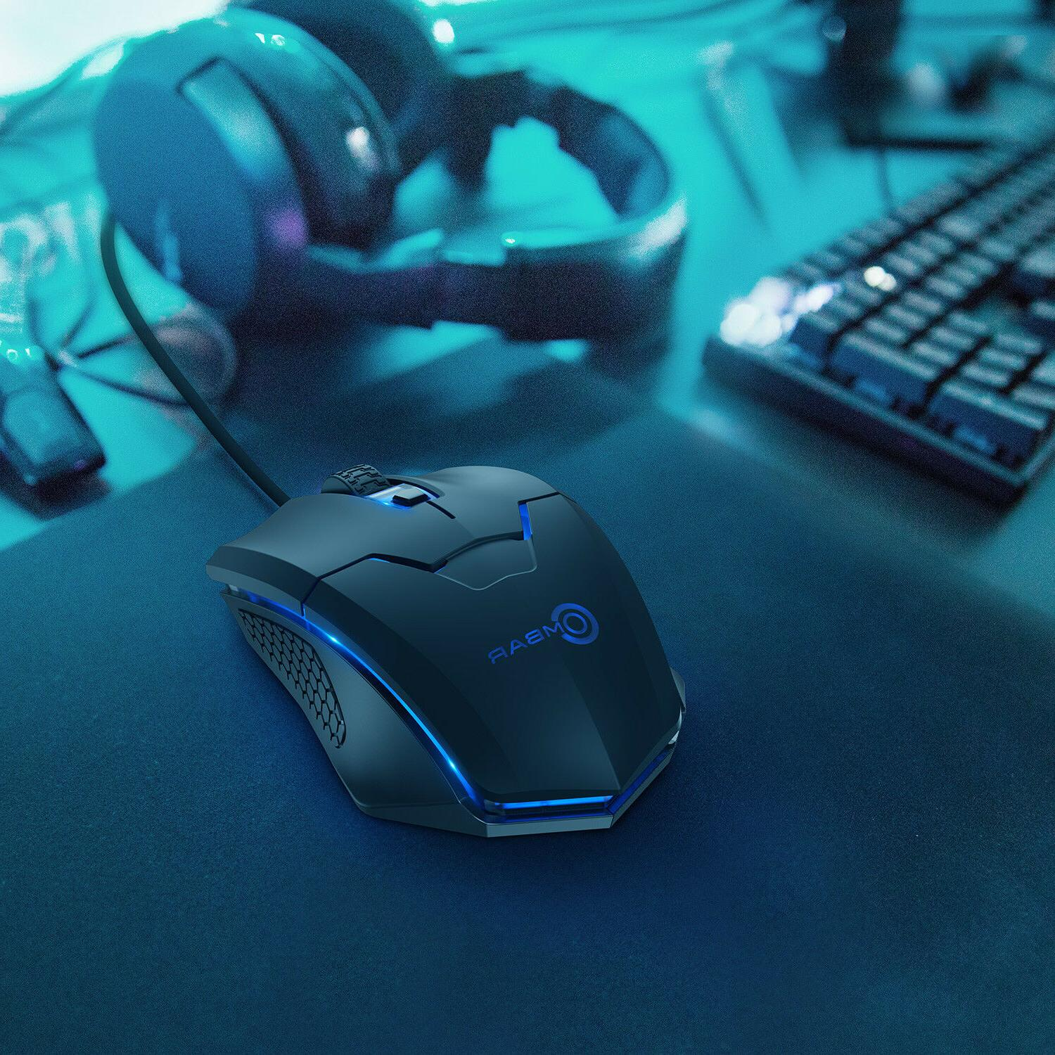 Ombar 2.4G Wired Gaming Mouse Mice 6D Computer