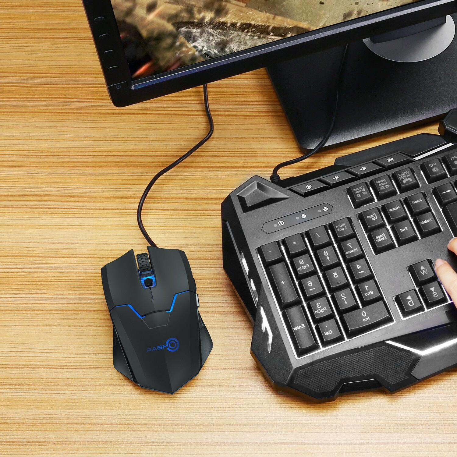 2 4g 4000dpi wired gaming mouse adjustable