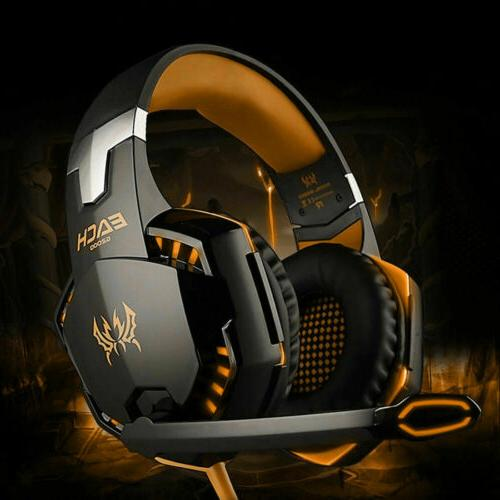 For PC PS4 3.5mm Gaming Headset Xbox one Headphone with RGB