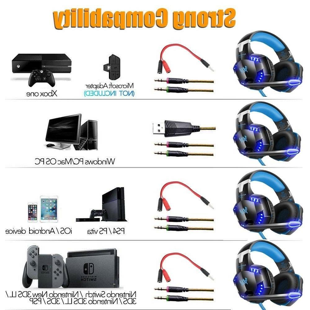 3.5mm Gaming Headphones PS3 PS4 Xbox one X E