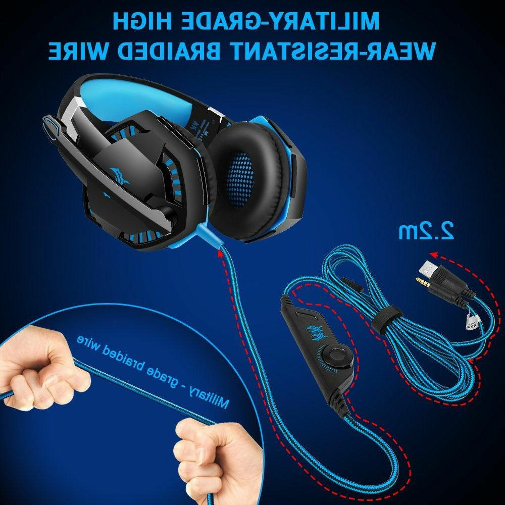 3.5mm Gaming LED Headphones PS3 X 360