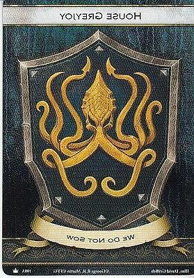 3 x house greyjoy faction card banner