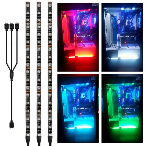 3x RGB PC Case Gaming LED Strip Light 5050 for Asus Aura Mid