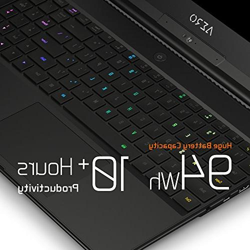 GIGABYTE AERO Thin Bezel IPS, Intel GeForce 2070, 16GB RAM, 1TB RGB Win10 Pro, 94Wh Metal Chassis Laptop
