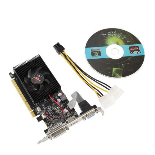 black gpu hd 6450 2gb ddr3 hdmi