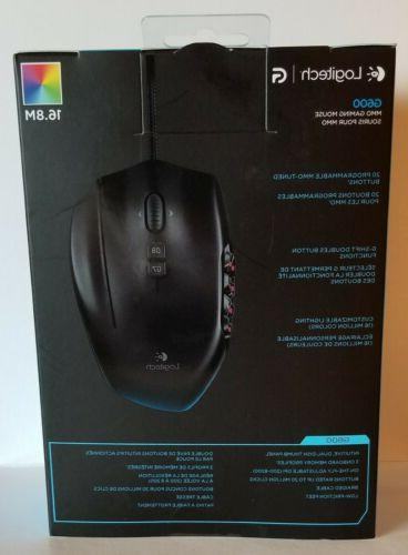 BRAND NEW USED Box. Logitech G600 Gaming Mouse -