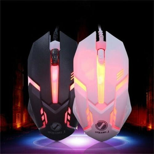 Computer and Mouse Mechanical Feel Led Light