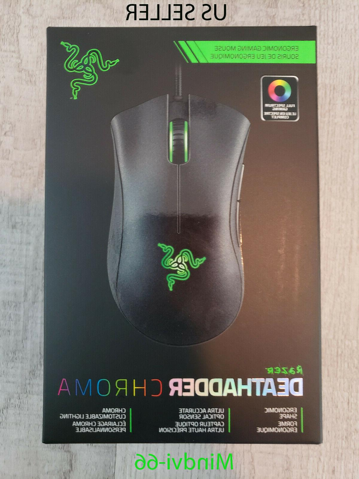 deathadder chroma multi color ergonomic gaming mouse