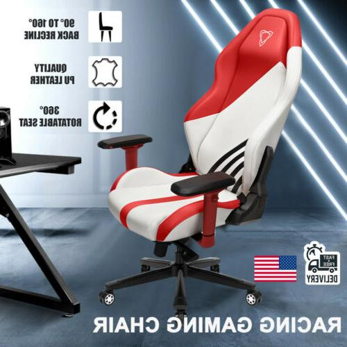ergonomic gaming chair high back leather racing
