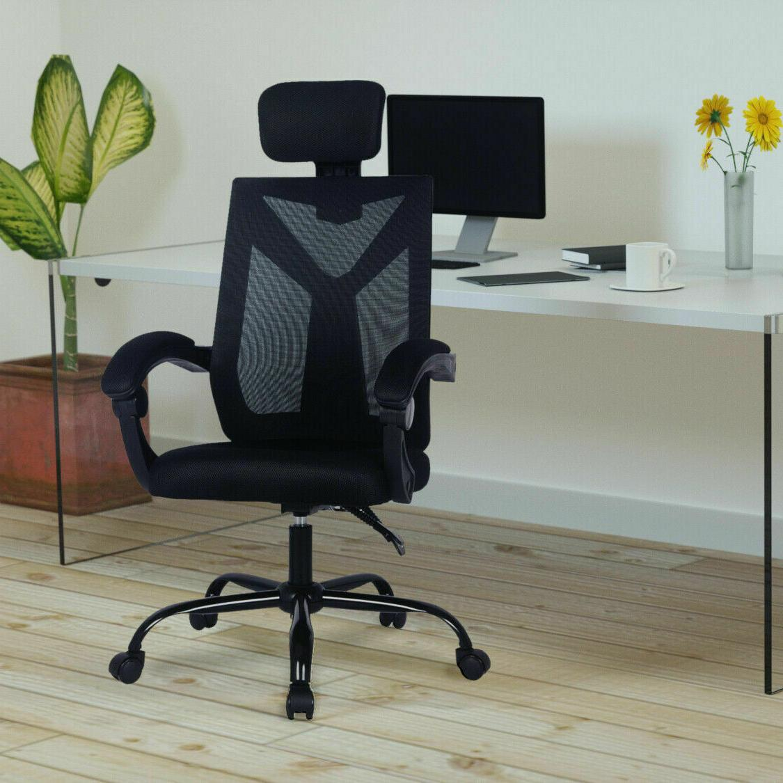 Home Office Back Chair Swivel Computer Desk