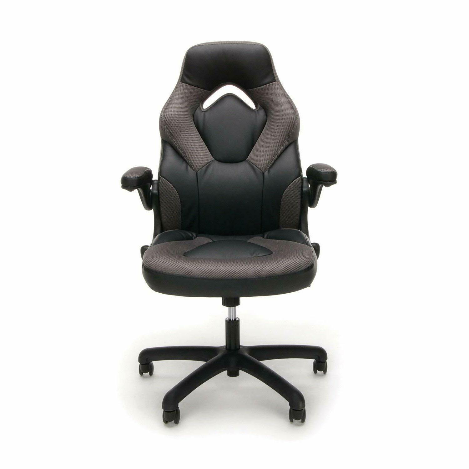 essentials racing style leather gaming chair ergonomic