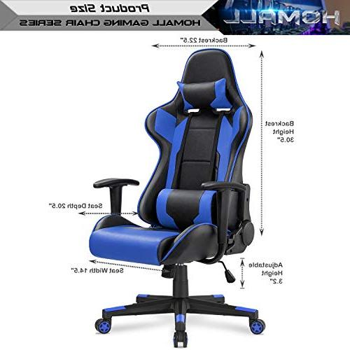 Homall Gaming Office Computer Desk Chair Racing Style Leather Chair Ergonomic Chair with